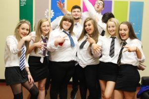 Loughry students attending a school disco event