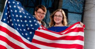 Alize McColm, Larne and Claire Wilson, Markethill 'America Bound'