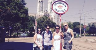 Sara Caithness (Macosquin), John Creighton (Coleraine), Emma O'Hagan (Coagh), and Lorraine Holloway-McCarney (Fintona) are undertaking their MSc theses in Communication in the city of Vienna.
