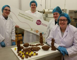Loughry students manufacturing chocolate eggs