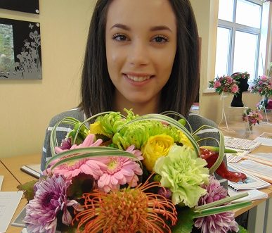 Floristry student at Greenmount