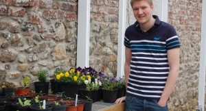 CAFRE Foundation Degree in Horticulture student James Crawford, from Portadown, Co Armagh, who is delighted to have won a prestigious scholarship from Ball Colegrave worth £1000.
