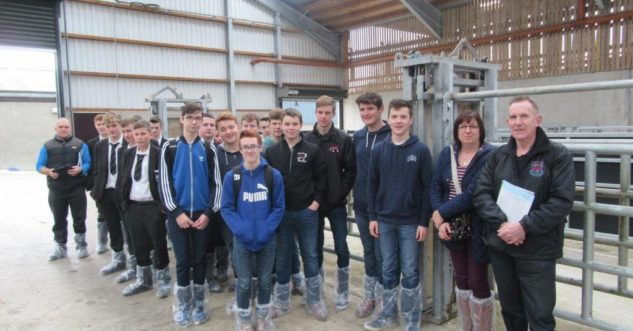Student visit to Greenmount Dairy centre