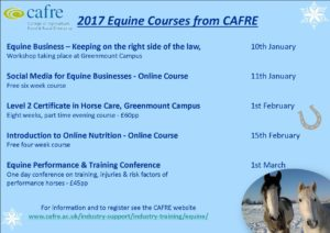 Equine courses 2017