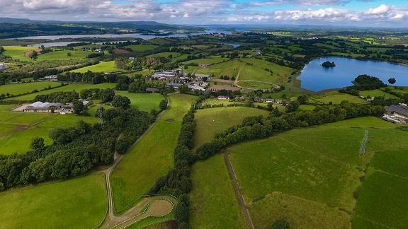 Aerial view of Enniskillen Campus
