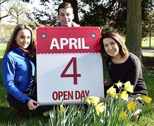 """Students Rachel McIlveen and Jack Graham prepare for the Loughry Spring Open with Lecturer Liz Simpson"""