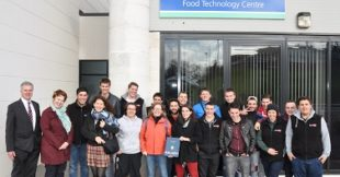 The staff and students from the Ecole des Industries du Lait et des Viandes ENILV, (School of Milk and Meat Industries), in La Roche sur Foron, also got a flavour of the work that Loughry students do with the local industry to develop new food products.