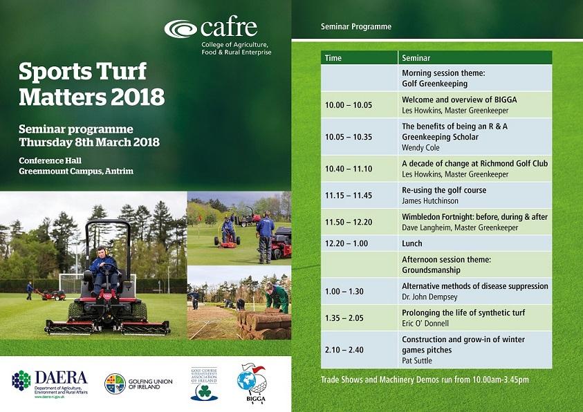 Cafre Sportsturf matters seminar timetable