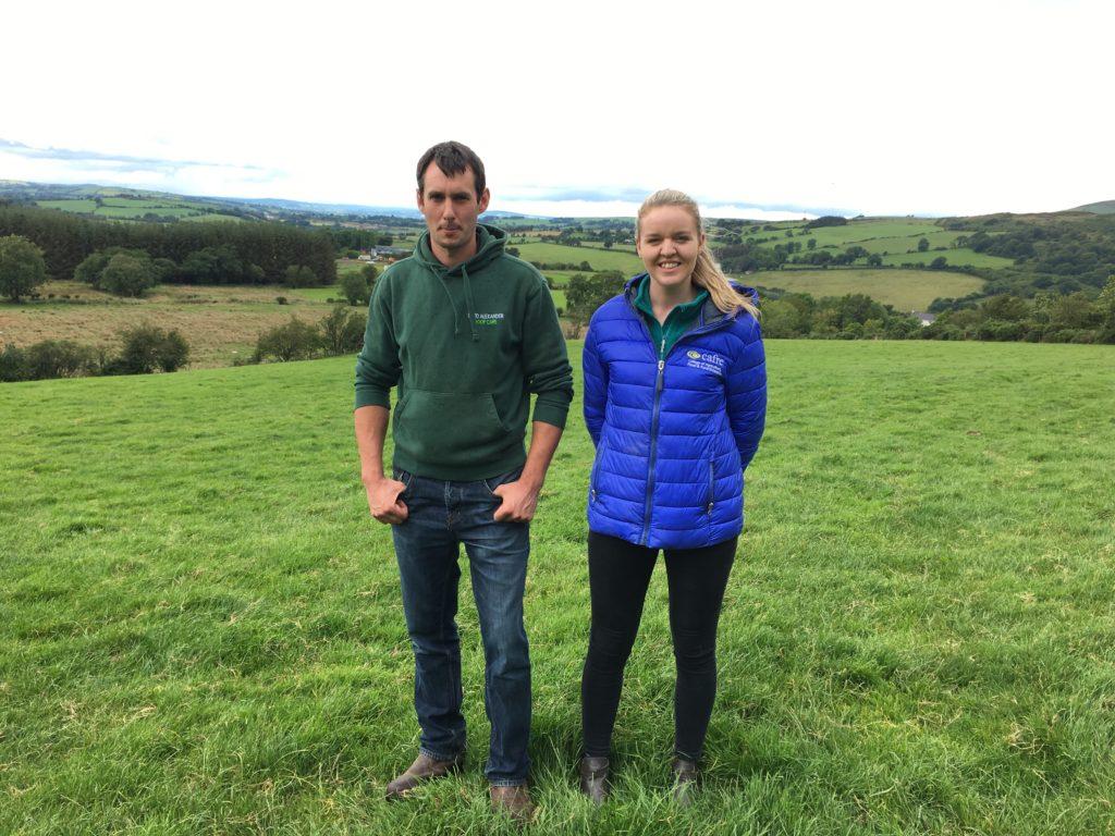 annah McNelis with farmer David Alexander