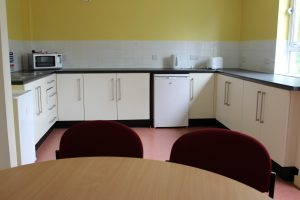 Loughry Accommodation, kitchen area