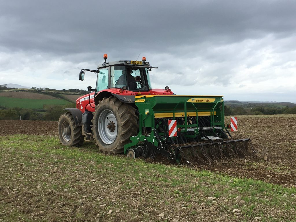 Tractor reseeding