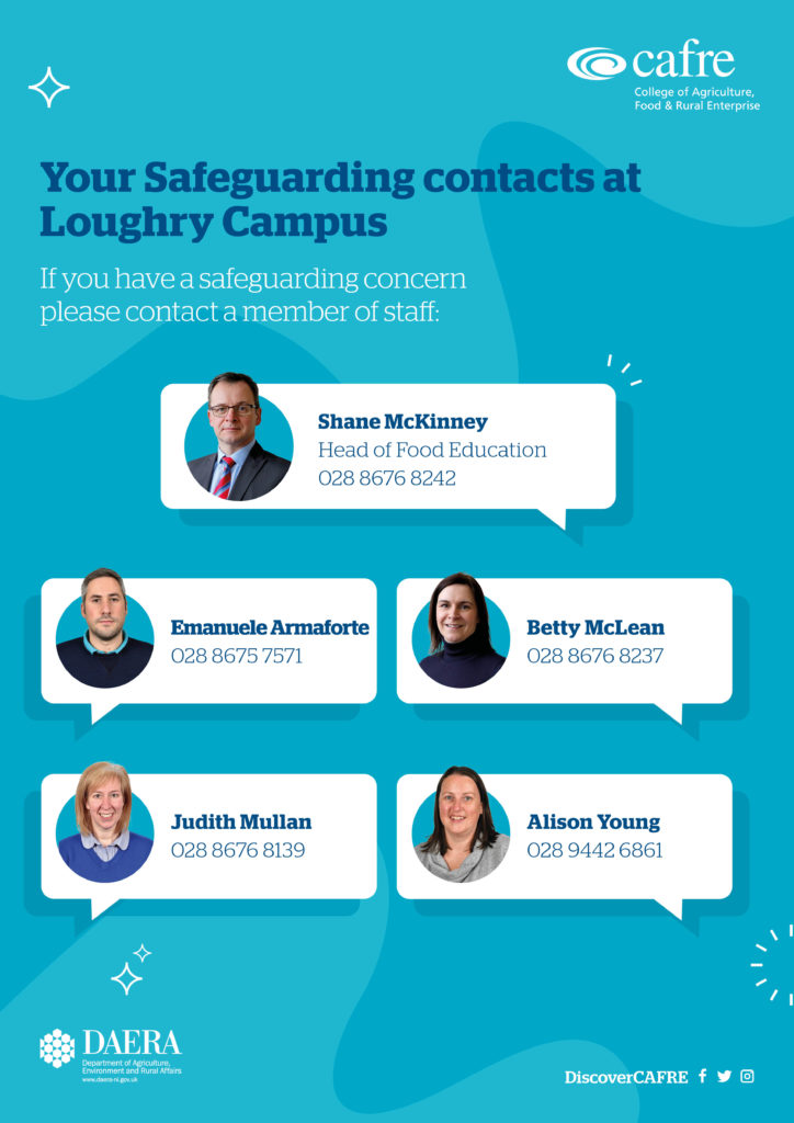Safeguarding staff at Loughry Campus