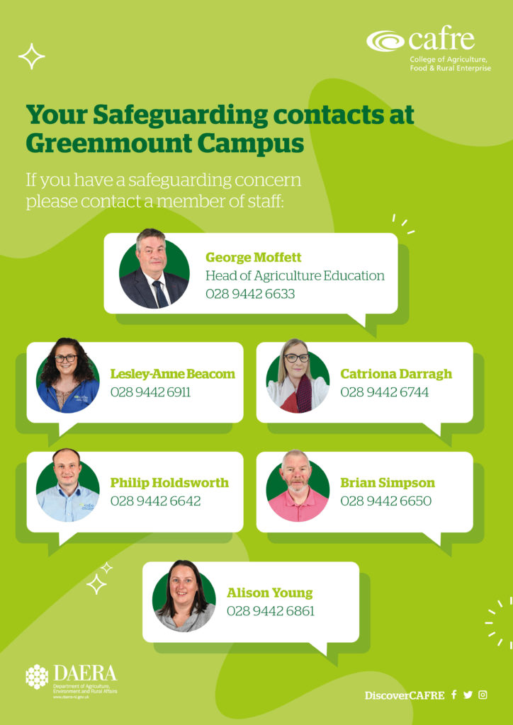 Safeguarding staff at Greenmount Campus