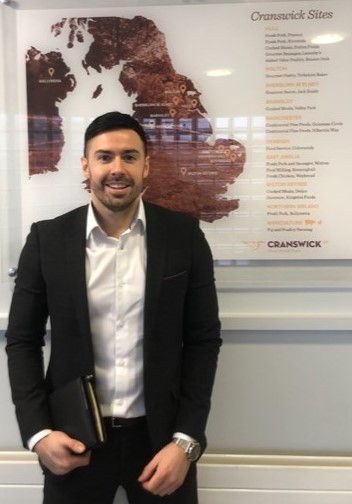 Lee McFarland, CAFRE graduate working with Cranswick Foods