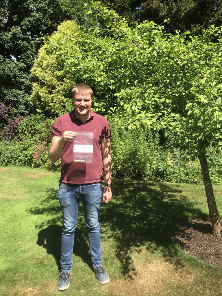 James Crawford, Horticulture Centre Manager is pictured with the first consignment of seeds that we sent in our new role as GLH's Regional Distribution Hub.
