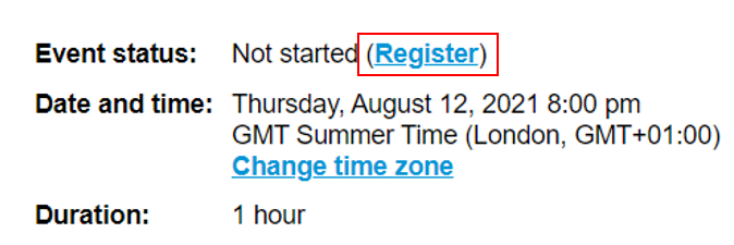 how to register event